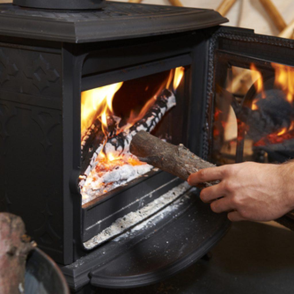 Holzheizung Feuer